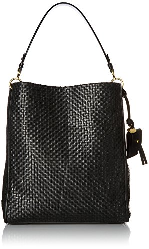 Collection Bucket - Cole Haan Woven Collection Zoe Bucket, Black