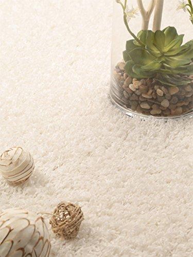benuta Teppiche: Hochflor Teppich Cambria Weiß 133x190 cm - Oeko-Tex Standard 100-Siegel - 100% Polypropylen - Uni - Maschinengewebt - Wohnzimmer