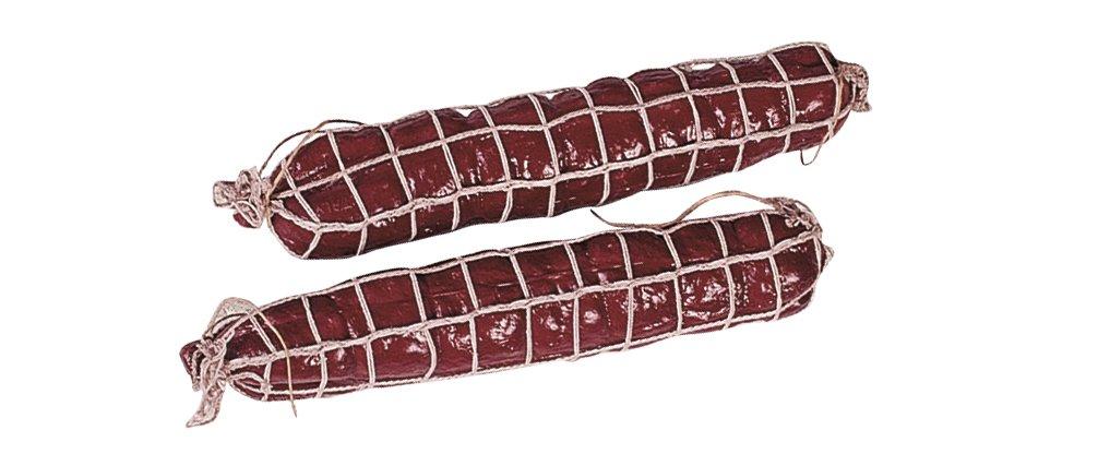 Lot de 2/Salami /metzgerei D/écoration factice une sc/ène le r/éseau en plastique/ faux alimentaire r/éplique de saucisse faux Food Th/é/âtre Requisite Rouge
