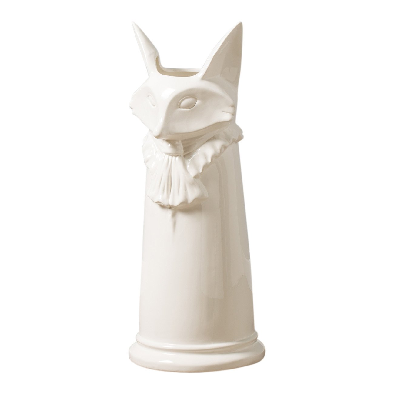 Torre & Tagus 902417A Notable Fox White Ceramic Umbrella Stand
