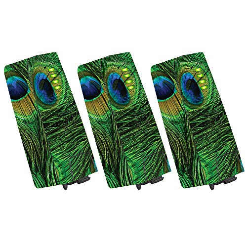 Mightyskins Skin Compatible With Parrot Anafi Drone Battery 3 Pack Peacock Feathers Protective Durable And Unique Vinyl Wrap Cover Easy To