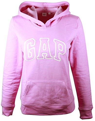 (GAP Womens Fleece Arch Logo Pullover Hoodie (M, Light Pink))
