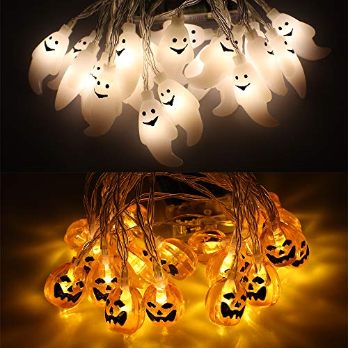 15 Led Halloween Pumpkin String Lights in US - 8