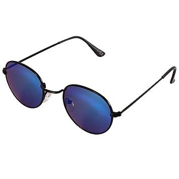 Lunettes de soleil verres Chic-Net lunettes protectrices petit métal coloré teinté UV 400 unisexe bouchons de sangle bleu pztOo4