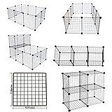LANGXUN 16pcs Metal Wire Storage Cubes