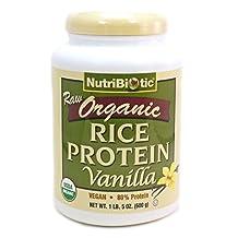 Nutribiotic - Organic Vegan Rice Protein Vanilla - 1.5 lbs.
