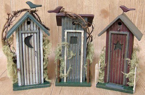 (Outhouse 3pc Set Country Rustic Primitive by MCtraddy)