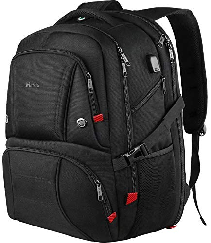 18.4 Inch Laptop Backpack, Durable Large Carry on Backpack with USB Charging Port, TSA Friendly Travel Backpack for Men Women, Black