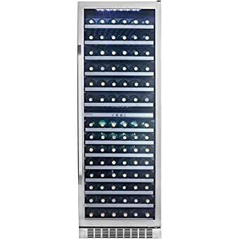 "Danby DWC408BLSST Silhouette 24"" Stainless Steel 146 Bottle Capacity Wine Chiller"
