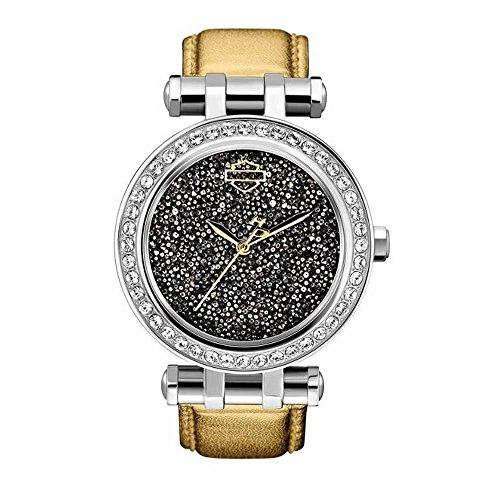 Harley-Davidson Women's Sparkly Bling Wrist Watch. 76L170