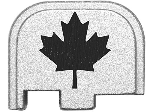 for Glock Back Plate 42 G42 .380 ONLY Silver NDZ - Canadian Maple Leaf