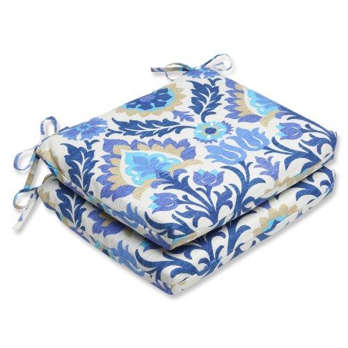 Pillow Perfect Outdoor Santa Maria Azure Squared Corners Sea