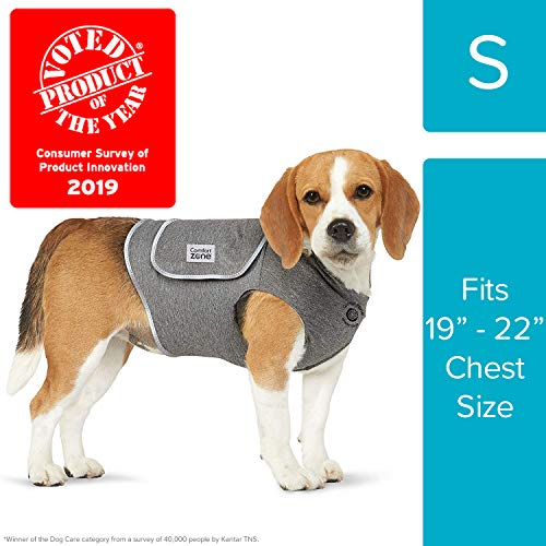 "Comfort Zone Calming Vests for Dogs, for Thunder and Anxiety, Small (19-22"" Chest)"