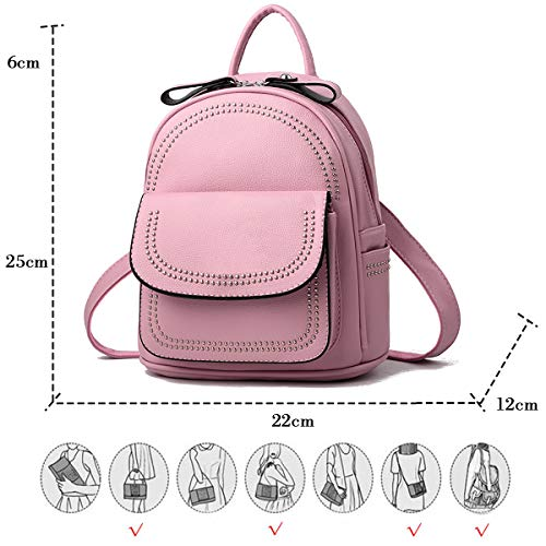 Petit Coolives Multiple Rose Poche Dos Sac Rivet Femme à xrF1qYrw