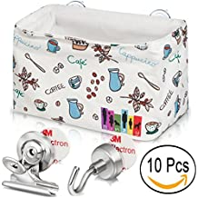 Hanging Storage Basket + 8 Magnetic Clips + 2 Magnetic Hooks for Refrigerator Organizer Kitchen, Office, Classroom, Gift, Household Organization – Heavy Duty Fridge Magnet to Hang, Display, Sort, etc.