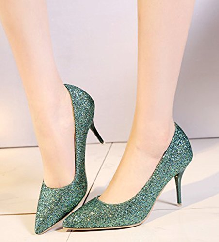 Aisun Femme Escarpins Chaussures Mariage Elégant de Vert Aisun Paillettes Femme 5wEvSS