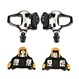 Lixada Bike Pedals,Bicycle Pedals SPD-SL Single-sided Clipless Bicycle 6 Degree Float Pedals Biking Cycling Pedal Clip-in Pedalsp-in Pedals