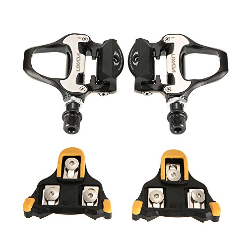 Lixada Bike Pedals,Bicycle Pedals SPD-SL Single-sided Clipless Bicycle 6 Degree Float Pedals Biking Cycling Pedal Clip-in Pedalsp-in Pedals ()