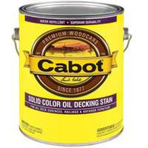 Cabot 1600 Oil Based Solid Color Decking Stain, 1 gal Container, Deep Base