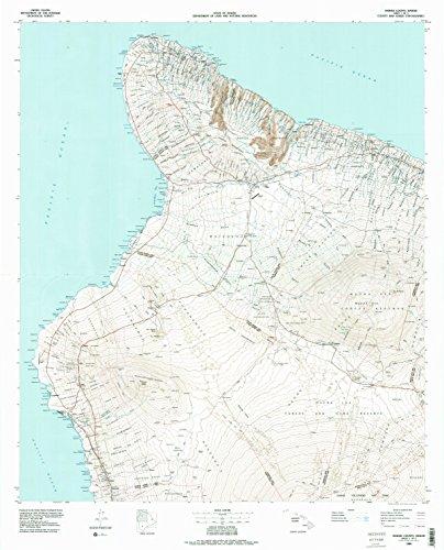 Hawaii County Sheet 1 HI topo map, 1:100000 scale, 30 X 60 Minute, Historical, 1980, updated 1984, 39.6 x 32 IN - - Hawaii Map Waikoloa