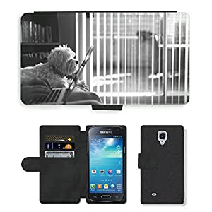 Hot Style Cell Phone Card Slot PU Leather Wallet Case // M00116020 Laptop Macbook Typing Working // Samsung Galaxy S4 Mini i9190