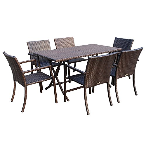Jeco 7-piece Resin Wicker Dining Set price