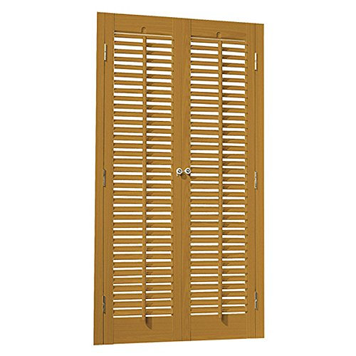 "Faux Wood DIY Traditional 1 1/4"" Interior Shutter Kits (Oak Stain Finish, 23-25"" W x 20"" L)"