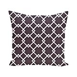 E By Design FPGN106PU9 Geometric Decorative Floor Pillow, Purple