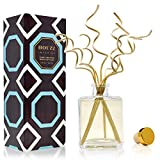 HOUZZ Interior RAIN Reed Diffuser Sticks Gift Set Room Fragrance with Grassy Vetiver, Arugula, Lavender & Sweet Basil - Made with Natural Essential Oils - No Sulfates or Parabens - Made in The USA
