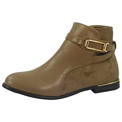 WOMENS LADIES STRAP CHELSEA BOOTIES LOW CUBAN HEEL ANKLE CASUAL BOOTS SHOES 3-8