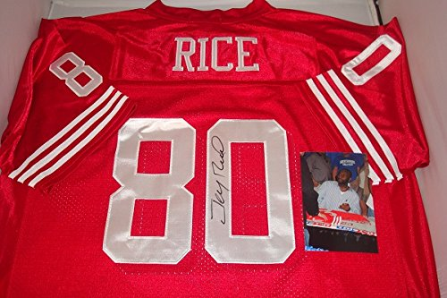 Jerry Rice Signed San Francisco 49ers Jersey! Hall of Fame Wide Receiver ()