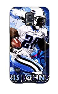 JakeNC Premium Protective Hard Case For Galaxy S5- Nice Design - Tennessee Titans M