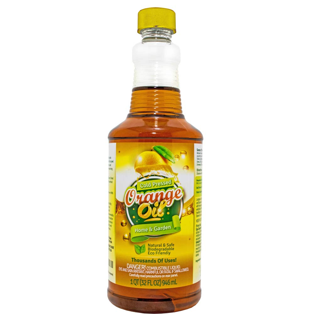 Pure Cold Pressed ORANGE OIL Concentrate - 32 oz (D-Limonene) by EcoClean Solutions Inc (Image #1)