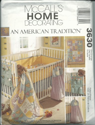 McCall's Home Decorating Pattern 3630 An American Tradition Nursery Decor