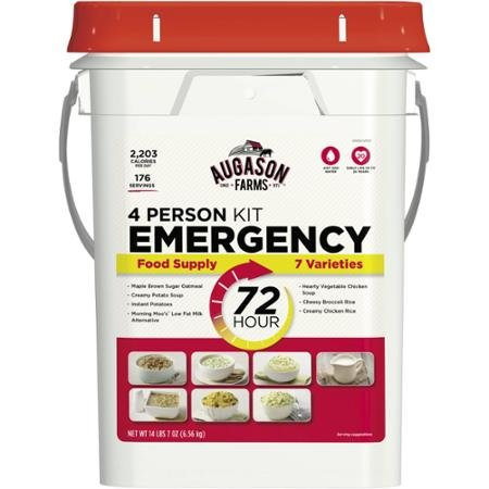 Augason Farms Emergency 4-Person 72-Hour High Quality and Safe Emergency Food Pail, 14.44 Pounds