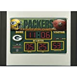 Team Sports Green Bay Packers Scoreboard Desk Clock