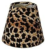 Royal Designs CS-957-5 Black & Brown Leopard Print Chandelier Lamp Shade, Black/Brown