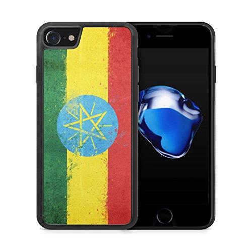 Äthiopien Grunge iPhone 7 Plus SILIKON TPU Hülle Cover Case Schutz Schale Flagge Flag Ethiopia