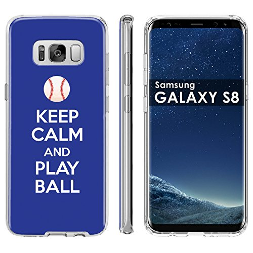 (Samsung Galaxy S8 Soft Mold [Mobiflare] [Clear] Thin Gel Protect Cover - [Play Ball - Los Angeles] for Samsung Galaxy [S8] [5.8