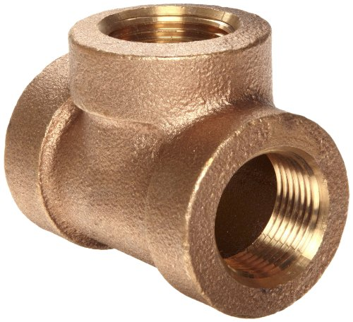 Lead Free Brass Pipe Fitting, Tee, Class 250, 1/2
