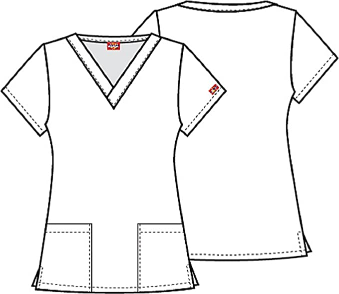 e7c9907b161 Amazon.com : DK704 DTOD S Dickies Women's V-Neck Top Dare To Dream EDS  Breast Cancer Awareness : Everything Else