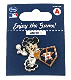 MLB Houston Astros Disney Pin - Mickey Leaning on Home Base