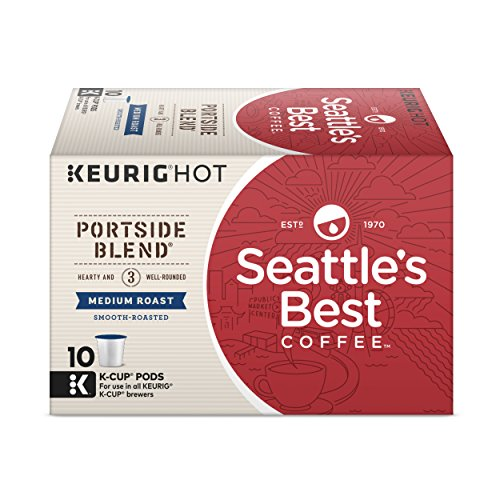 Seattle's Best Coffee Portside Blend (Previously Signature Blend No. 3) Medium Roast Single Cup Coffee for Keurig Brewers, 6 boxes of 10 (60 Total K-Cup pods)