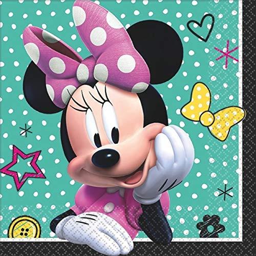 Disney Minnie Beverage Napkins Birthday Party Tableware (16 Pack), Multi Color, 5