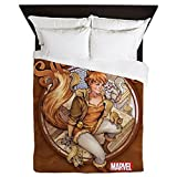 CafePress - Squirrel Girl Rooftop - Queen Duvet Cover, Printed Comforter Cover, Unique Bedding, Microfiber