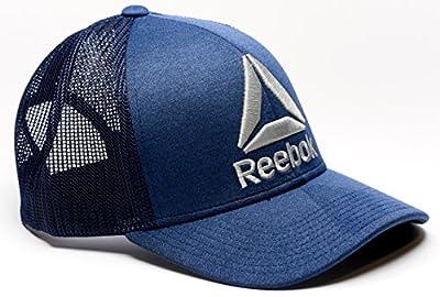 Reebok Delta Logo Meshback Snapback Trucker Hat from Reebok