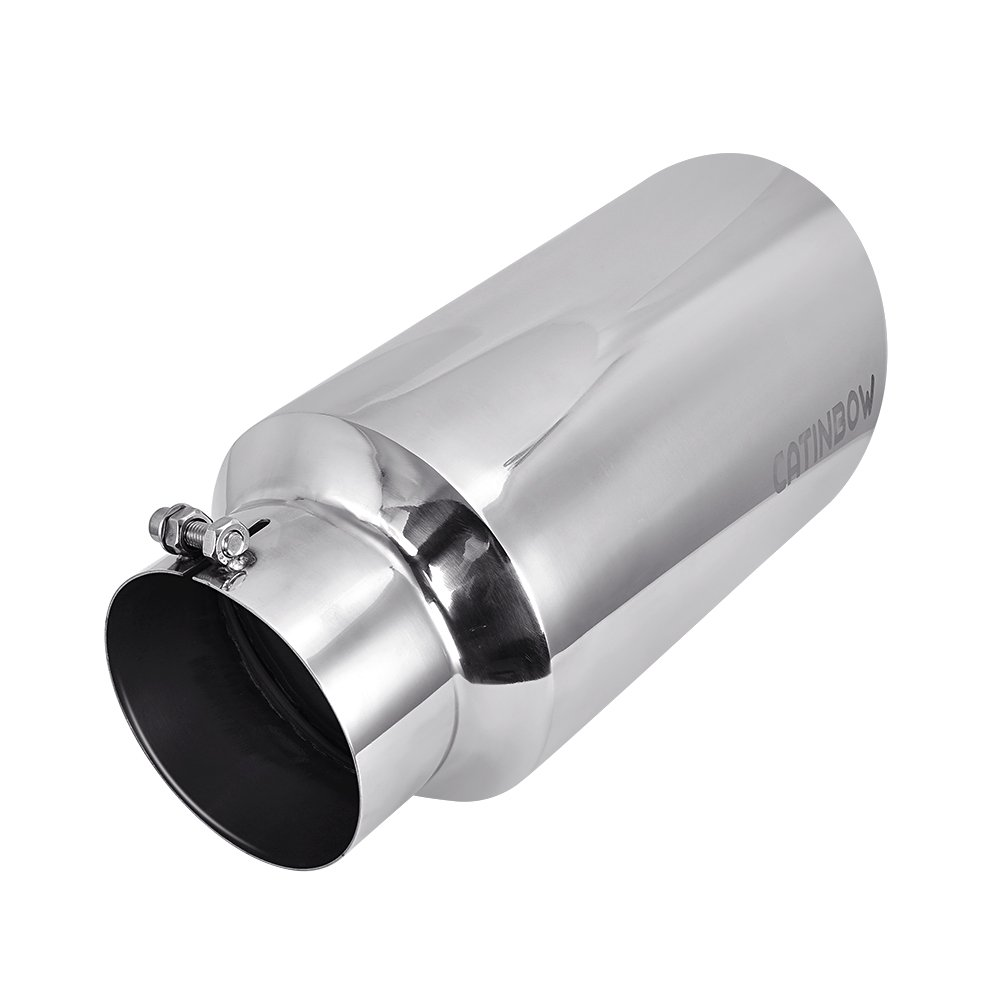 7 Outlet Catinbow Stainless Steel Exhaust Tip 5 Inlet 15 Long Bolt On Exhaust Tail Pipe Tip