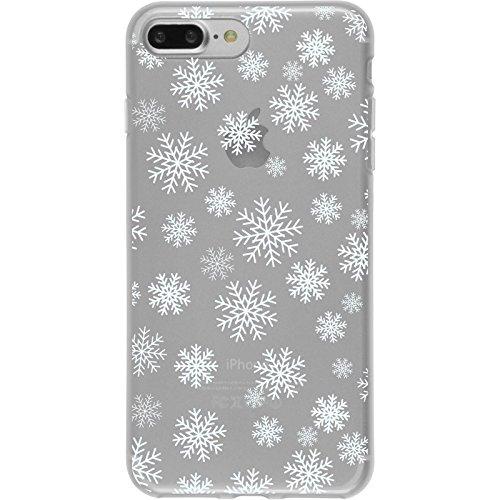 PhoneNatic Case für Apple iPhone 7 Plus Silikon-Hülle X Mas Weihnachten M2 Case iPhone 7 Plus Tasche + 2 Schutzfolien