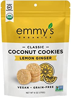product image for Emmy's Organics Lemon Ginger Coconut Cookies, 6 Oz. (Pack of 2)