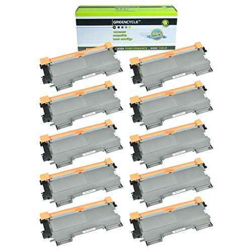 GREENCYCLE 10 Pack Compatible Toner Cartridge Replacement for Brother TN450 TN420 High Yield Toner use in Brother HL-2240D HL-2270DW HL-2280DW MFC-7360N MFC-7460DN MFC-7860DW Printer 10k Compatible Toner Cartridge